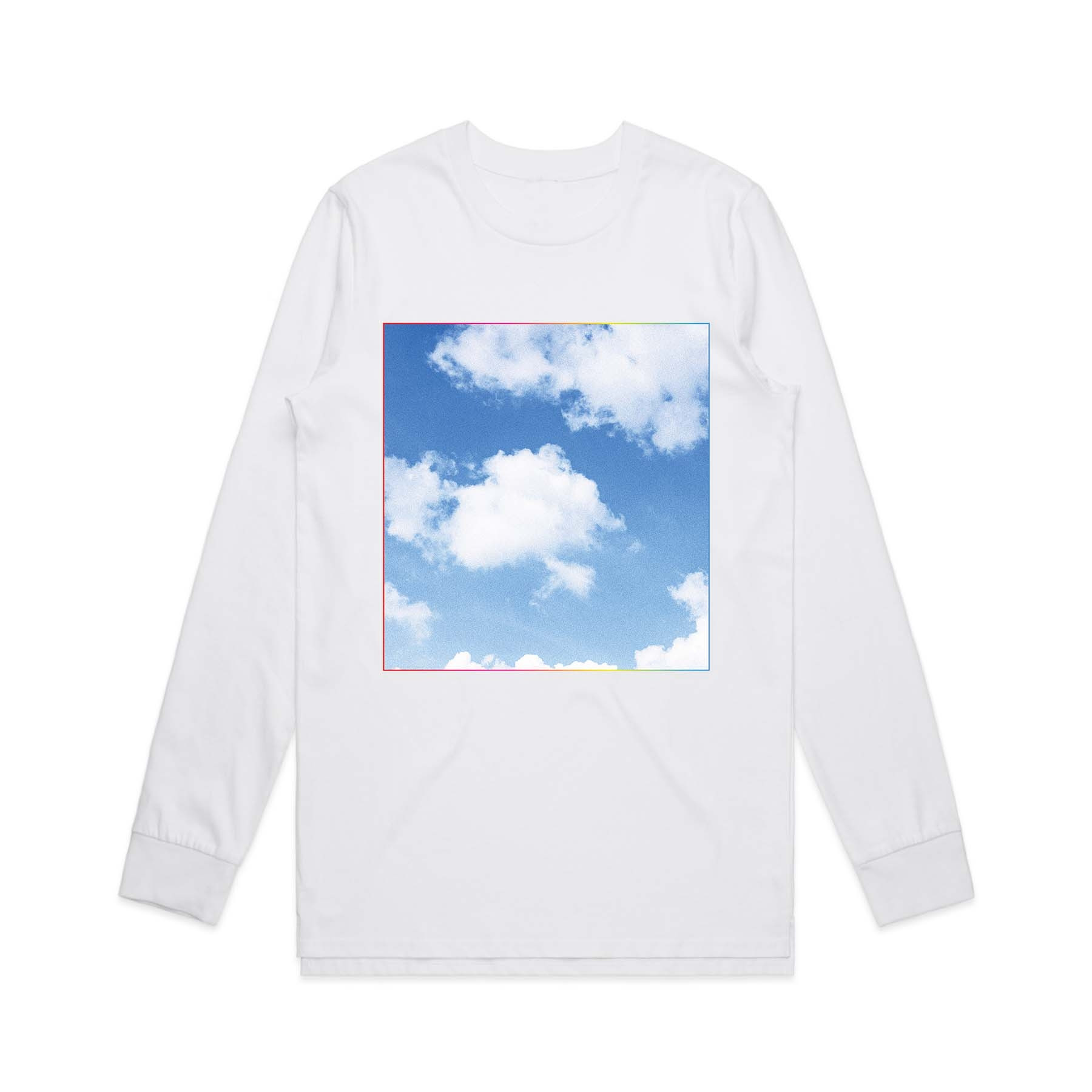White Square Cloud Longsleeve