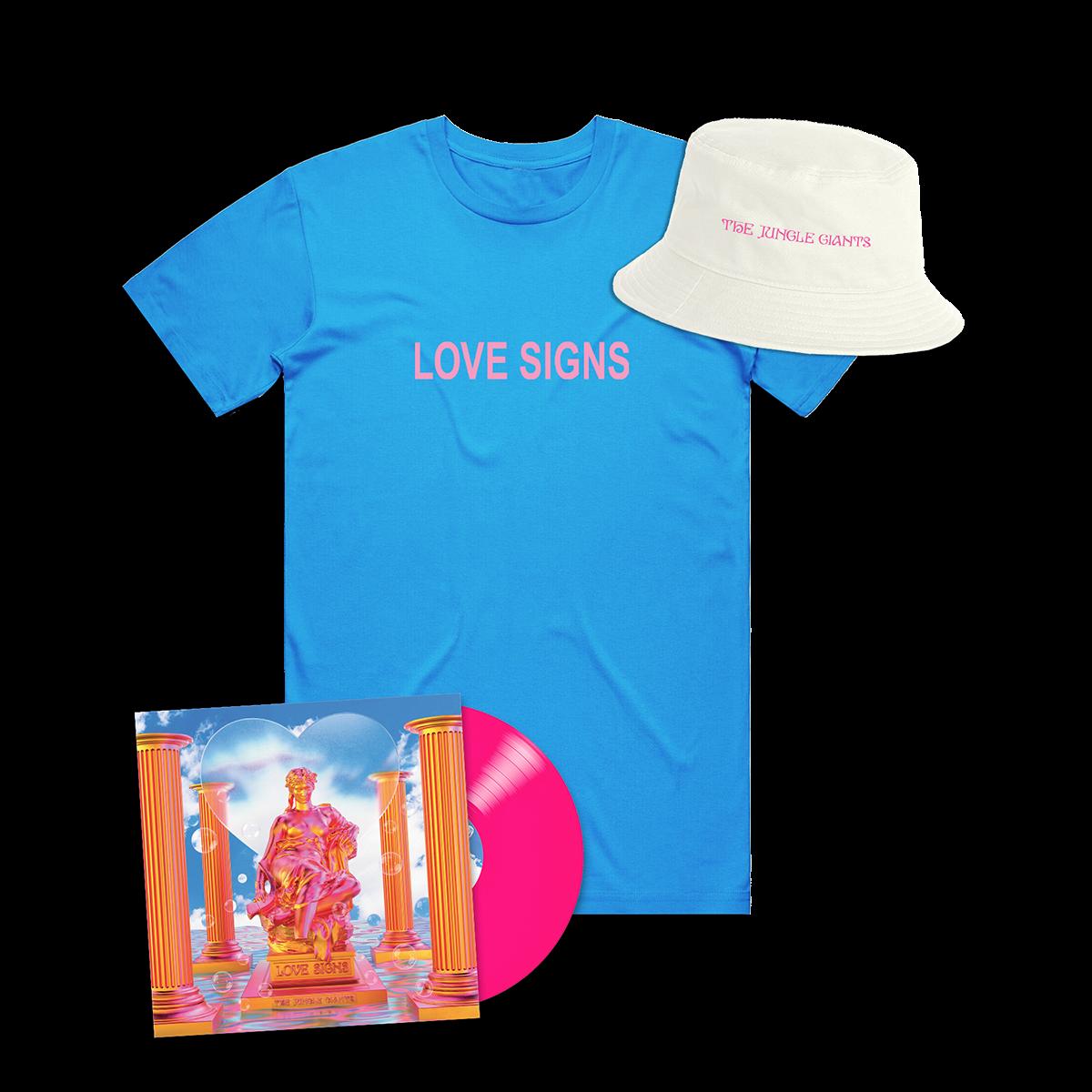 Love Signs Pink Vinyl & Tee Bundle