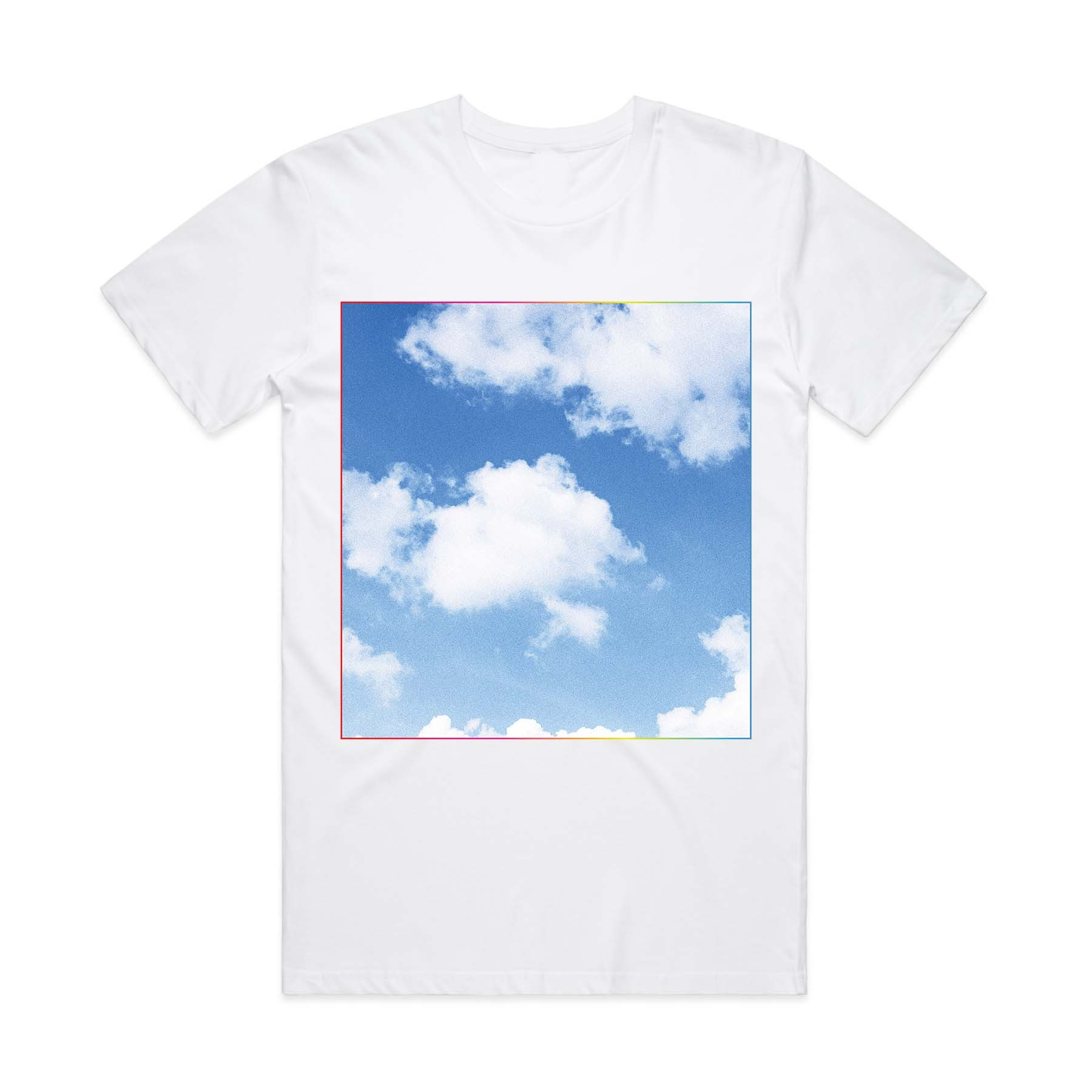 White Square Clouds Tee